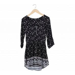 Cotton On Black Floral Mini Dress