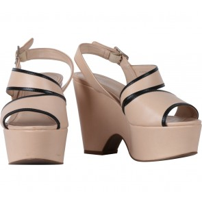 Charles and Keith Cream Wedges
