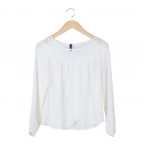 Divided Cream Blouse
