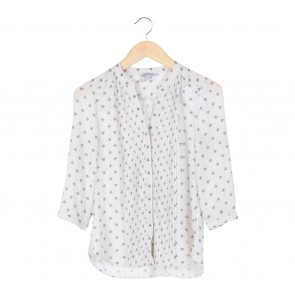 H&M White Floral Blouse