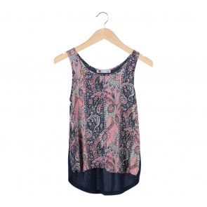 Temt Multi Colour Floral Sleeveless