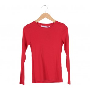 Zara Red Long Sleeve T-Shirt