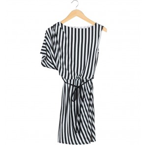 Dorothy Perkins Black And White Stripes Mini Dress
