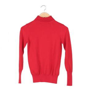 Zara Red Turtle Neck Sweater