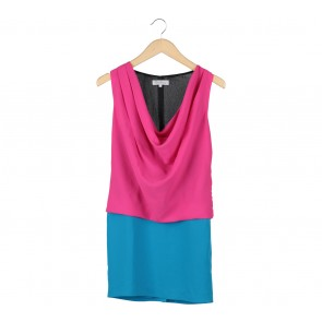 Max Mara Pink And Blue Mini Dress
