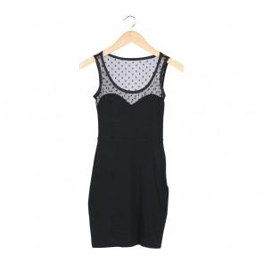 (X)SML Black Sheer Insert Mini Dress