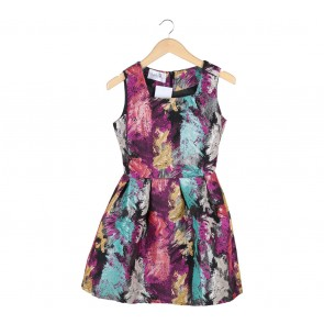 Etoffe Multi Colour Mini Dress