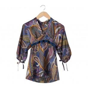 Zara Multi Colour Paisley Pattern Blouse