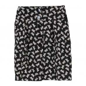 French Connection Black And Cream Butterfly Pattern Skirt