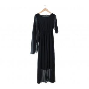 Black Cape Long Dress
