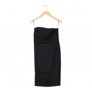Zara Black Sleeveless Midi Dress