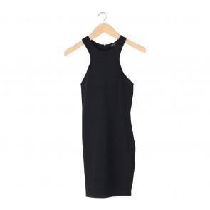 Topshop Black Sleeveless Mini Dress