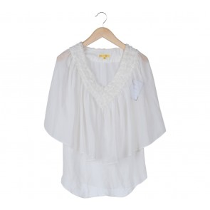 Catherine Malandrino Off White Batwing Blouse