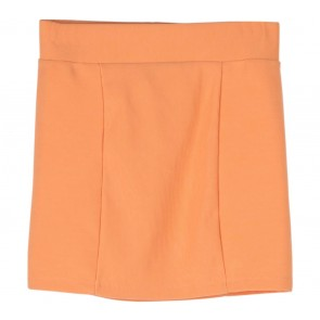 Divided Orange Mini Skirt