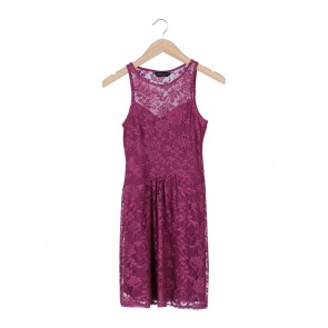 Dorothy Perkins Purple Floral Sleeveless Mini Dress