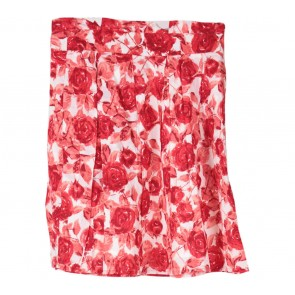 Forever 21 Red And White Floral Mini Skirt