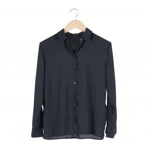Mango Black Paterned Shirt