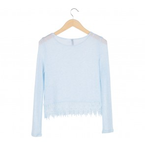 Divided Blue Lace Sweater