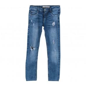 Zara Blue Ripped Jeans Pants