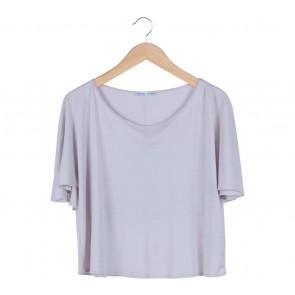 Zara Grey Batwing  T-Shirt