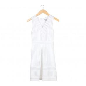 H&M White Midi Dress
