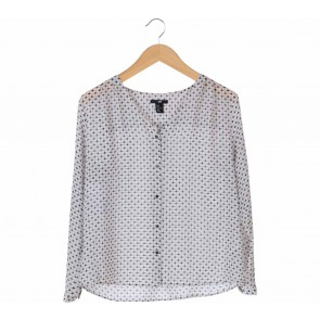 H&M White Patterned Blouse