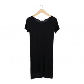 Pull & Bear Black Slit T-Shirt