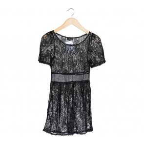 Topshop Black Lace Mini Dress