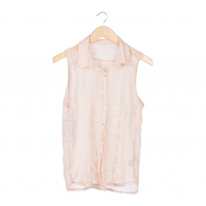 Zara Cream X-ray Febrics Sleeveless