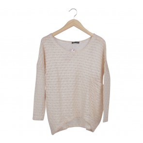 Lilac Cream Knit Sweater
