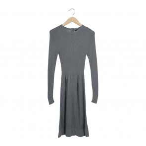 Mango Grey Midi Dress