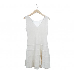 Zara Off White Low Back Mini Dress