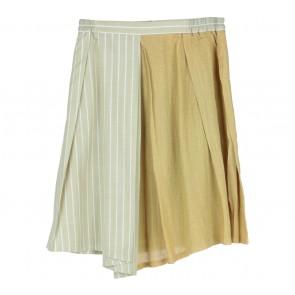 Anokhi Green Striped Skirt