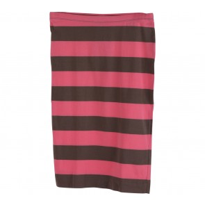 H&M Pink And Brown Striped Skirt
