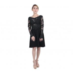 Marga Alam Black Lace Mini Dress
