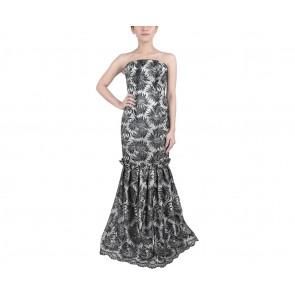Marga Alam Black Tube Lace Long Dress