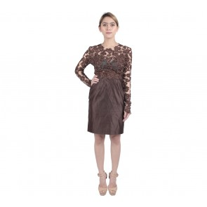 Marga Alam Brown Sequins Mini Dress