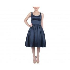 Marga Alam Dark Blue Midi Dress