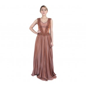 Marga Alam Orange Sequins Long Dress