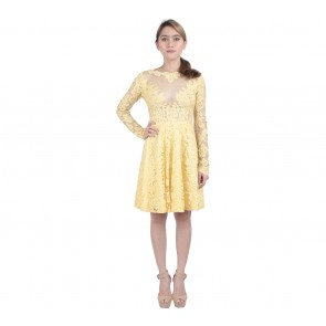 Marga Alam Yellow Lace Mini Dress