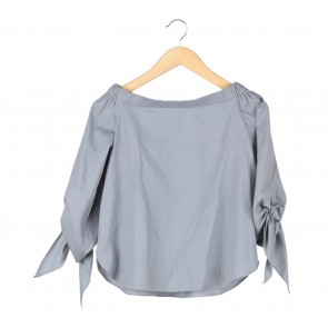 Agree to Shop Grey Bardot Blouse