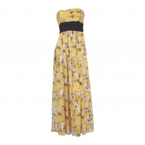 BCBG Maxazria Yellow Tube Long Dress