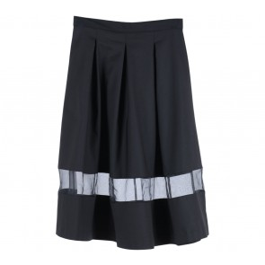 Odiva Woman Black See-Thru Skirt
