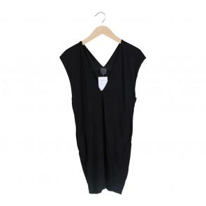 Calvin Klein Black V-Neck Mini Dress