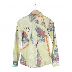 Etro Yellow Patterned Shirt