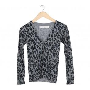 Zara Grey Leopard Cardigan