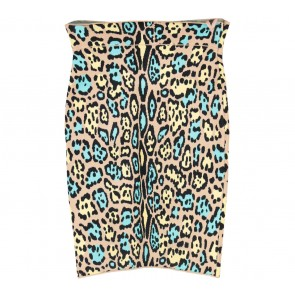 BCBG Multi Colour Animal Print Skirt