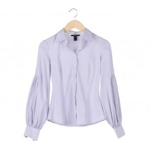Mango Purple Striped  Shirt
