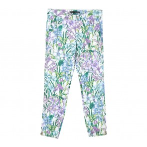 Zara White Floral Pants