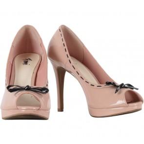 Fioni Pink Open Toe Heels